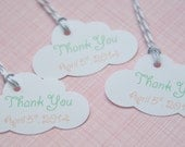 Baby Shower Gift Tags-Baby Shower Paper Goods-Thank You Tags- Due For Delivery-Baby Established-Customized Favor Tags-Gift Tags-Set of 25