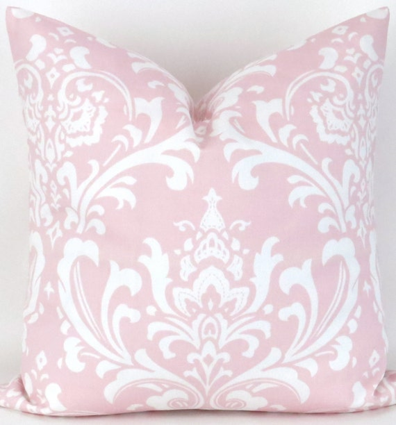 Big Pink Floor Pillows : Pink Damask Floor Pillow Cover 28x28 inch Baby by DeliciousPillows