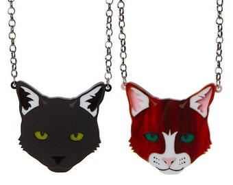 Cat necklace - laser cut acrylic