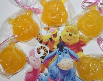 12 Winnie The Pooh Soap Favors with custom tags and ribbons/Teddy Bear Soap Favors/Baby shower soap favors/Birthday Favors