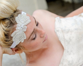Crystal Headband, Bridal Headband, Vintage Headband, hedaband, Headpiece, head piece,