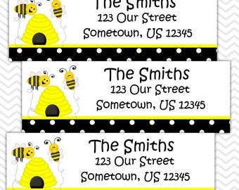 Bee - Personalized Address labels, Stickers