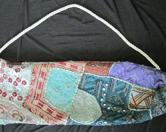 Yoga Bag - HANDMADE One of a Kind - Green
