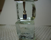 Baguette Cut Blue Sapphire Necklace in Sterling Silver