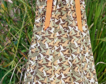 A Boutique Pillowcase Dress featuring Duck Dynasty Camouflage Sizes 3 months thru 6/7:CH056