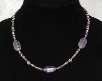 Lavender Smoke Necklace
