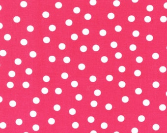 Robert Kaufman Remix by Ann Kelle Dots on Pink by the Yard