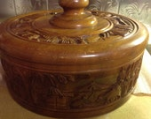 Vintage Wooden Cake Cover Handcrafted In The Philippines