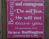 Confirmation Gift, Communion Gift, Graduation Gift, Baptism Gift, Personalized Bible Verse, Gift for Girls, Gift for Boys, Custom Wood Sign