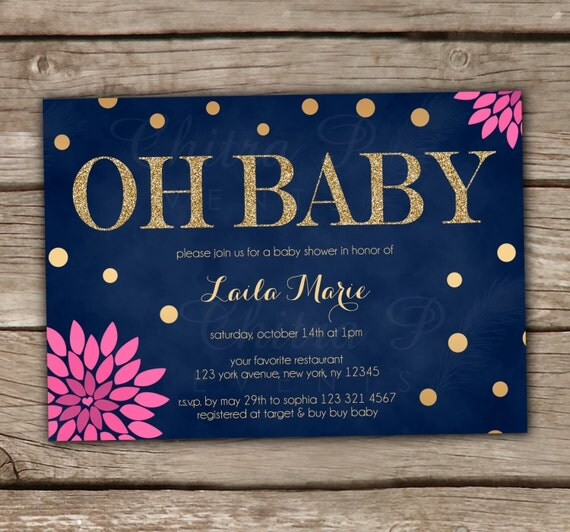 glitter baby shower invitations printed or printable gender neutral