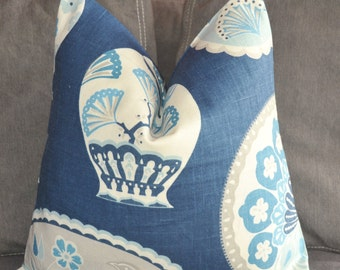 Pillow Cover, Decorative Pillow, Throw Pillow, Toss Pillow, Accent Pillow, Chinese Porcelain, Denim Blue, Home Furnishing, Home Decor