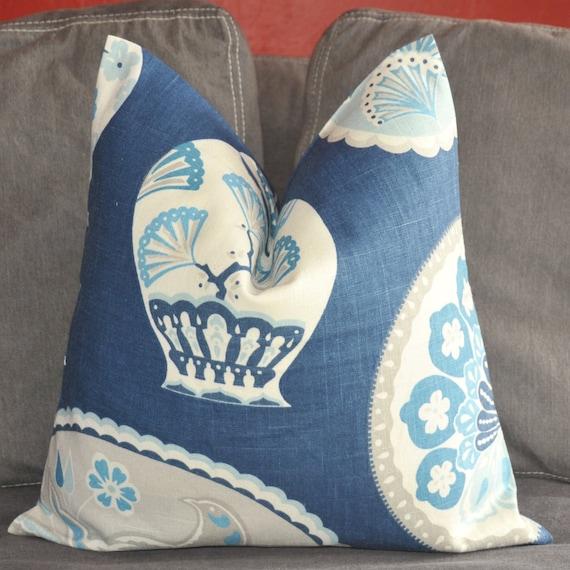 Porcelain Blue Decorative Pillows : Items similar to Pillow Cover, Decorative Pillow, Throw Pillow, Toss Pillow, Accent Pillow ...