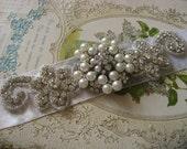 Wedding rhinestone crystals dress buckle belt bridal wedding bracelet