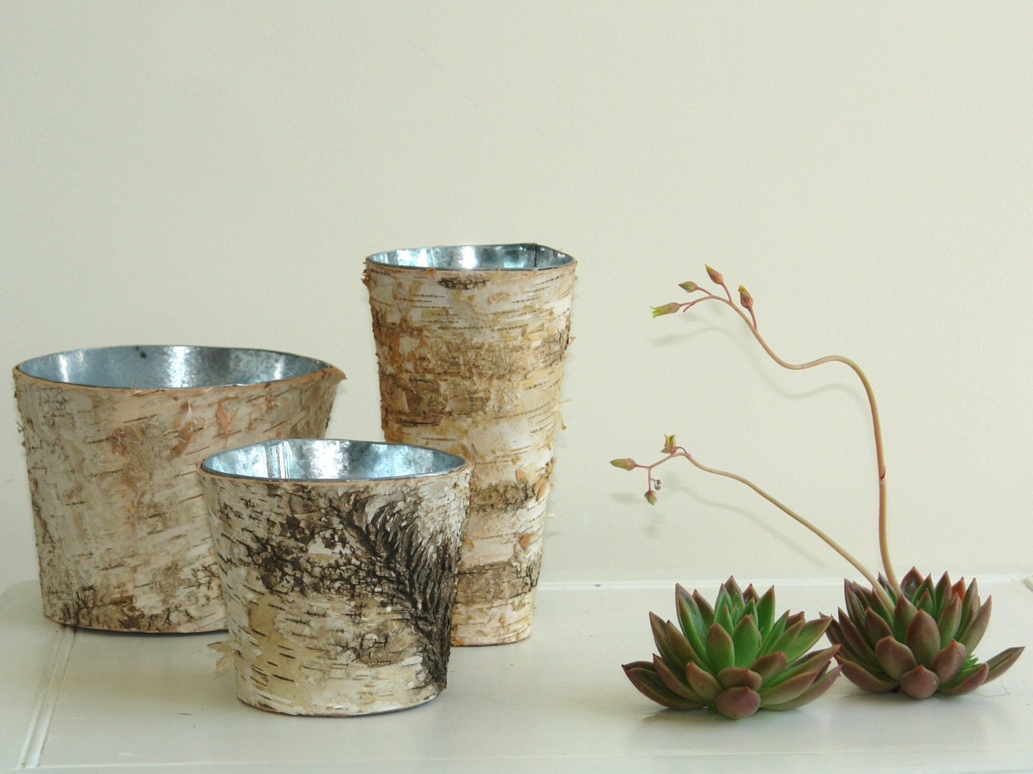 Birch bark vases wood boxes square wedding flower pot for Wood vases for centerpieces