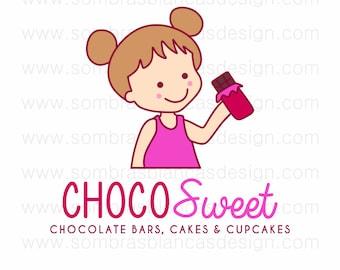 Logotipo prediseñado de un solo uso - Niño Chocolate