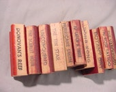 Movie Titles Rubber Stamps, 10 pieces, See Description for Titles