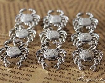 HQ Silver Plated Crab Push Pins - Zinc Alloy Push Pin - Thumbtack - Drawing Pin - Metal Pins - 6 pcs