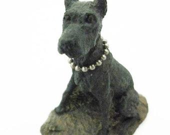 M Richardson Black Doberman Figurine 1977