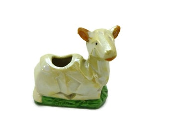 Lusterware Little Cow Toothpick Holder Made in Japan