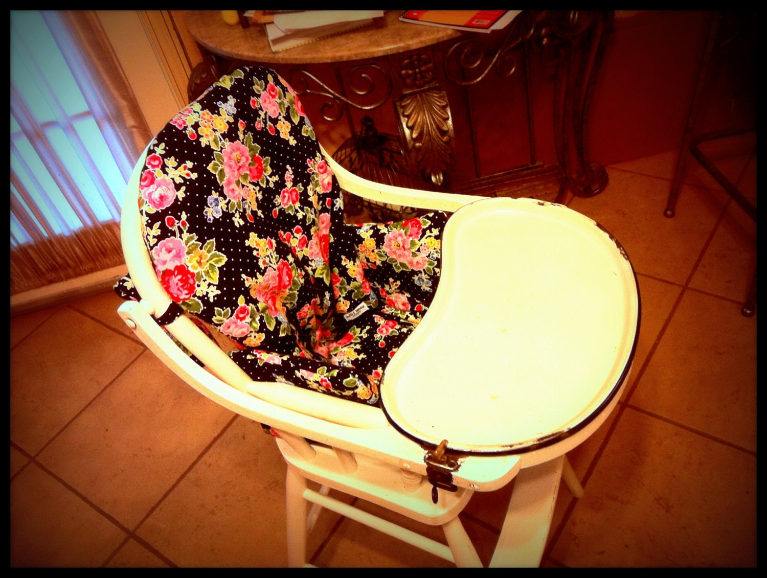wooden high chair cushion chair pad custom by lillimaydesigns