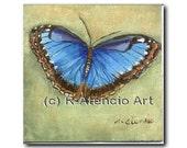 Butterfly, Blue Butterfly, Art Print, Wall Art, Baby Nursery, Get Well, Girl's room, Watercolor print, Spring, Summer, Garden, Light blue