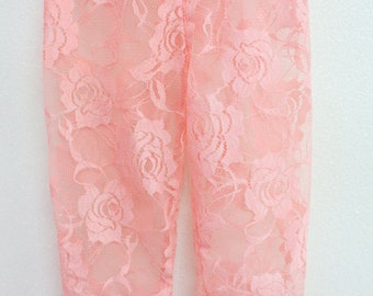 Lace Baby Leggings, Ivory Lace Baby Leggings, Black Lace Baby Leggings, Peach Lace Leggings, Pink Lace Leggings, Hot Pink Lace Leggings