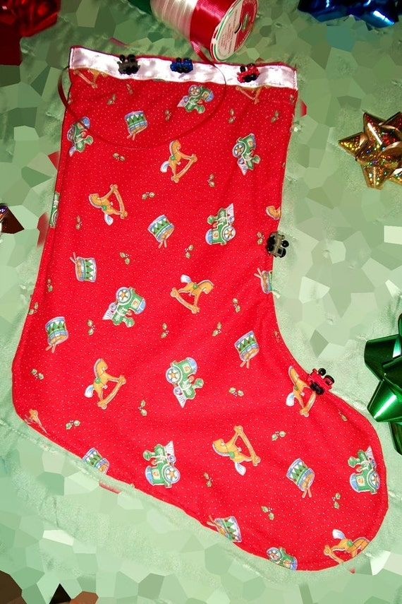 Christmas stockings train theme fabric by arubensrubies on for Train themed fabric