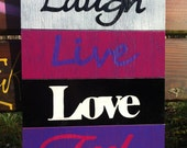 """Inspirational wooden sign """"four wood"""""""