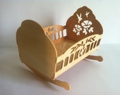 Ideal dolls wooden cradle or decoration scroll saw