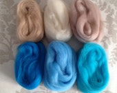 6 x Soft felting wool,
