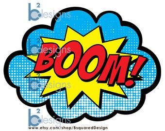 Superhero Signs • Boom, Pow, Zap, Bam • 11x17 • Instant Download
