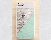 iPhone & Samsung case - Pastel geometric wood print - iPhone 6, iPhone 4, iPhone 4S, Samsung Galaxy S5, S3