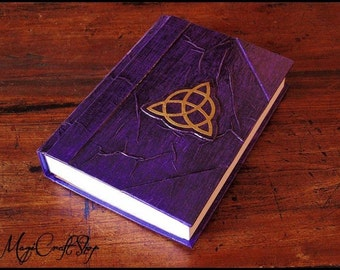 Diary - Book of Shadows Triquetra Different colors - VIOLET color - medium size 8,67x5,91 inch (22x15 cm)