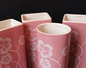 RESERVED FOR ANNE. Pretty In Pink Floral Vases (Set of 4)