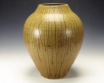 Ash glazed pottery vase. Ready to ship