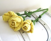 Friendship Roses -  Rose Flowers Knitting Pattern PDF