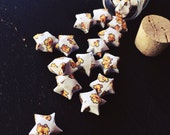 Final Fantasy Pixel Chocobo Patterned Origami Stars -- 50 pieces