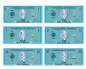 Printable Frozen Elsa Play Money Pack - Instant Download JPEG Reward Personalized Chore Money