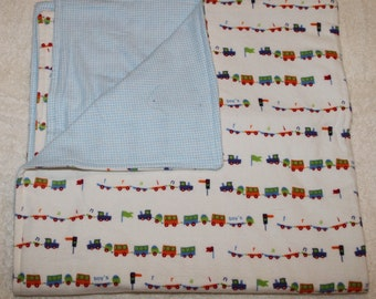 Train Cuddle Blanket