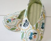 Kids' Shoe -- Woodland Critters Kimono Slipper / House Shoe -- Size 10