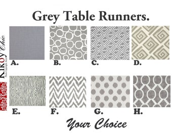 "Grey Table Runner- Gray  Table Runner.Grey Table Cloth. Gray Placemat.48"", 60"",72"",84"",96"" Runner or 12 x 18""Placemat."