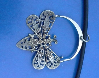 Silver filagree Butterfly Pendant