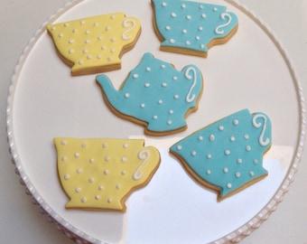 Teacup and teapot cookies