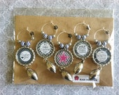 Dallas Cowboys Inspired Glitter Bottlecaps Wine Charms