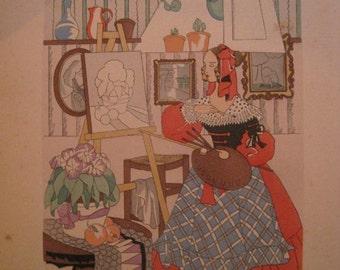 The Artist - L'artiste - Original Pochoir C1930s