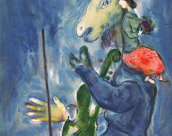 """Chagall Lithograph """"Spring"""" , 1938 Verve"""