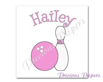 Personalized girls bowling iron transfer image  bowling birthday t-shirt transfer girls bowling t-shirt transfer iron on