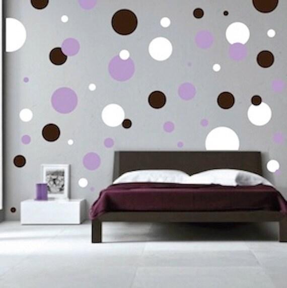 Dots Wall Decals - Polka Dot Wall Decal - Large Polka Dot Decal - Gold ...