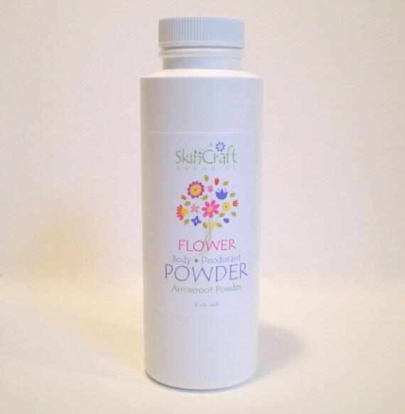 Bath Powder -  Organic Deodorant Body Powder w/ Rose Petals - Jasmine - Ylang Ylang