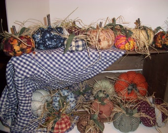 Fall Autumn Fabric Pumpkins, Holiday Decor, Trending Items, Made to Order, Ooak,